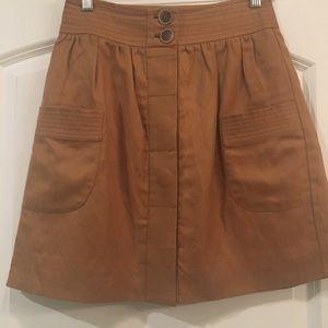 Jcrew Linen Skirt Size 0